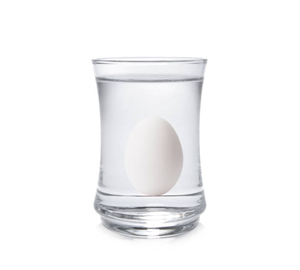 Lifehacks - How to tell if eggs have gone bad with fresh egg tests stock photo