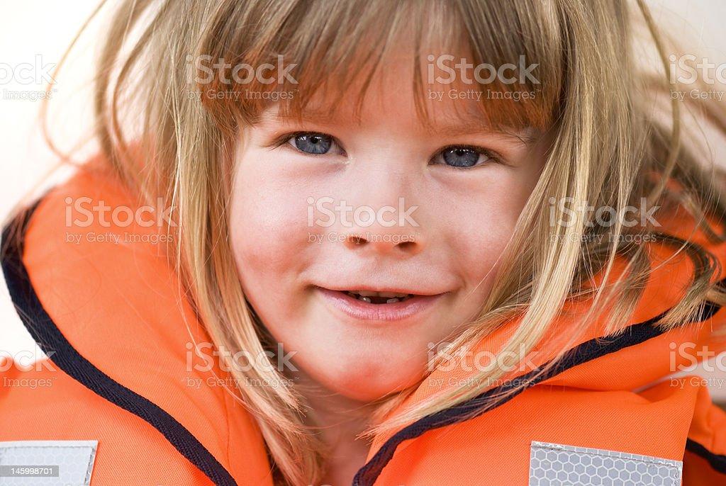 Life-jacket child royalty-free stock photo