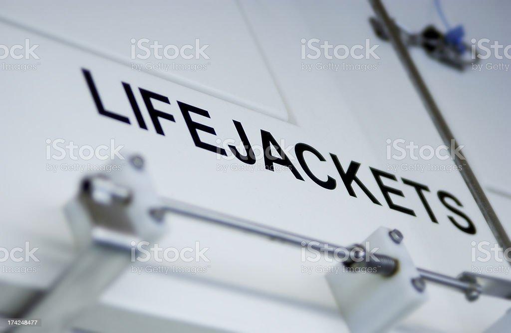 Lifejacket compartment royalty-free stock photo