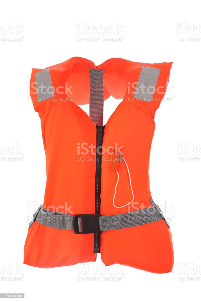 lifejacket on white background stock photo