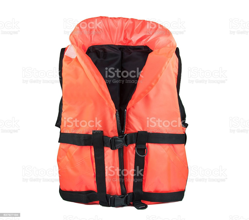 lifejacket orange stock photo