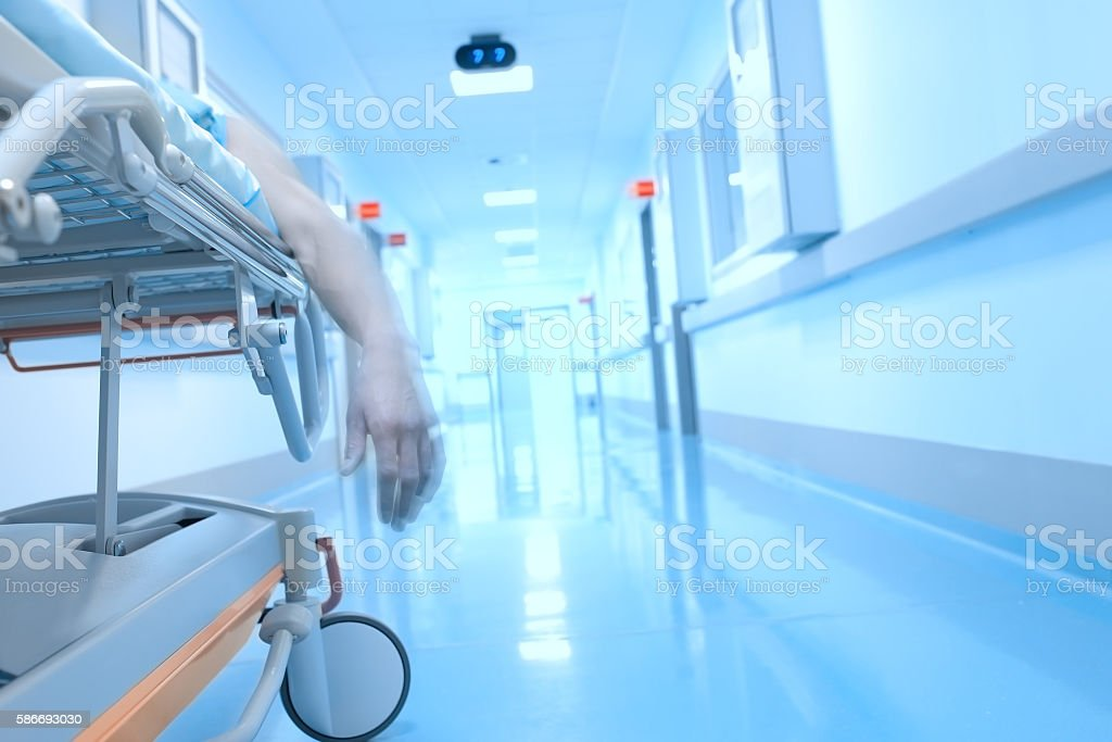 Lifeless dangling hand in the interior of the hospital – Foto