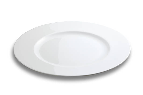 Lifeless plate on white background stock photo