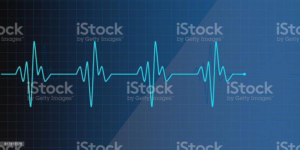 Lifeline in an electrocardiogram stock photo