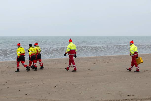 Lifequard on the beach stock photo