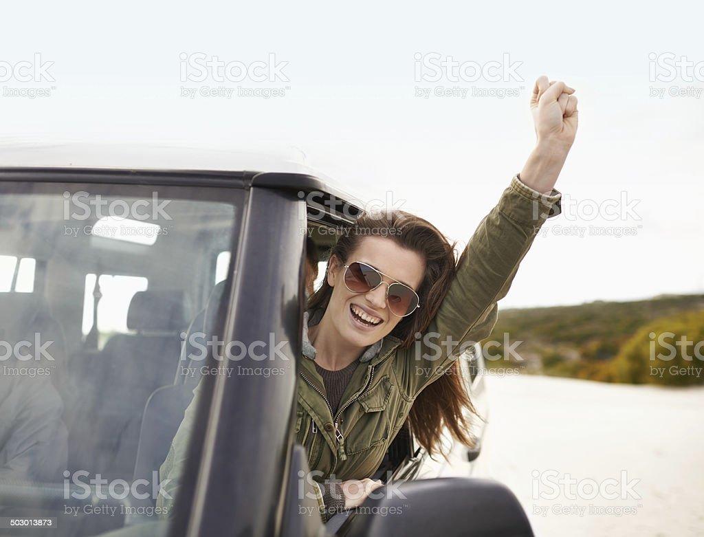 Life's a journey so enjoy the ride stock photo