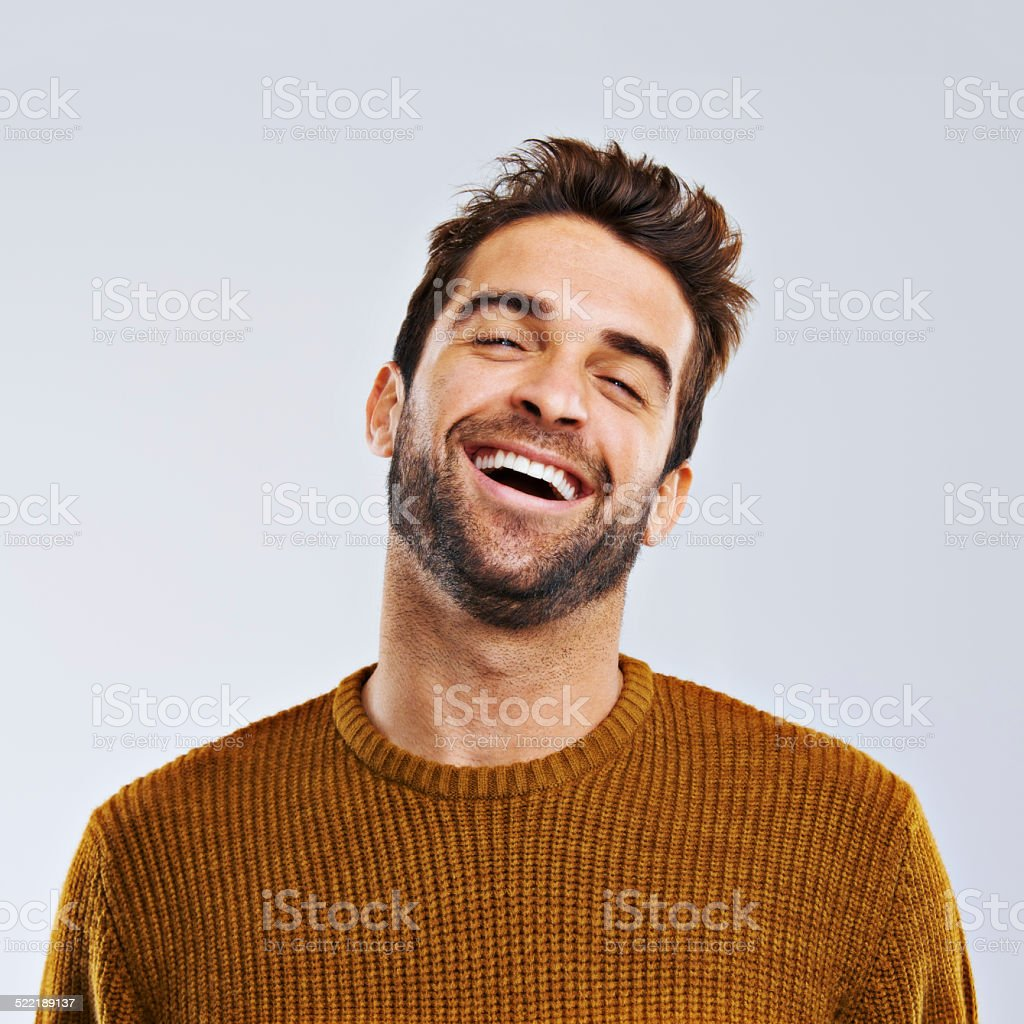 Life's better when you're laughing stock photo
