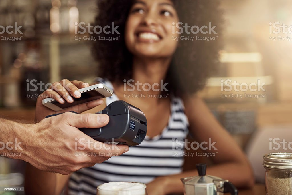 Life's getting easier! stock photo