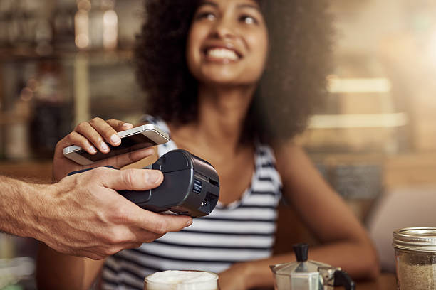 Contactless payment stock photos