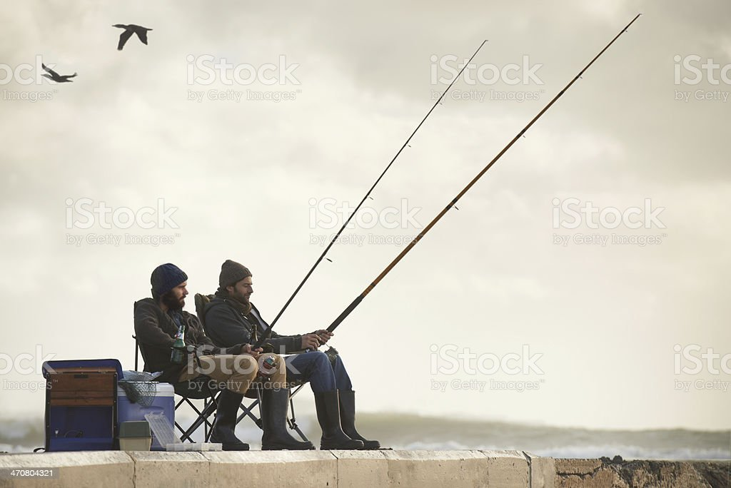 Life's short...go fishing. stock photo