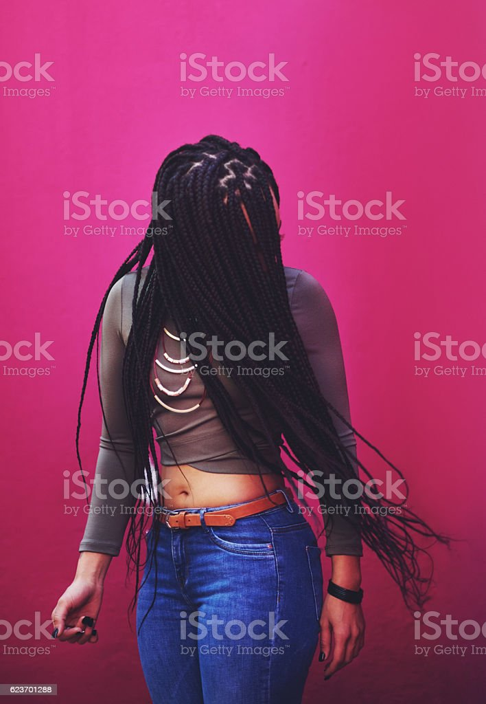 Life's too short to have boring hair stock photo
