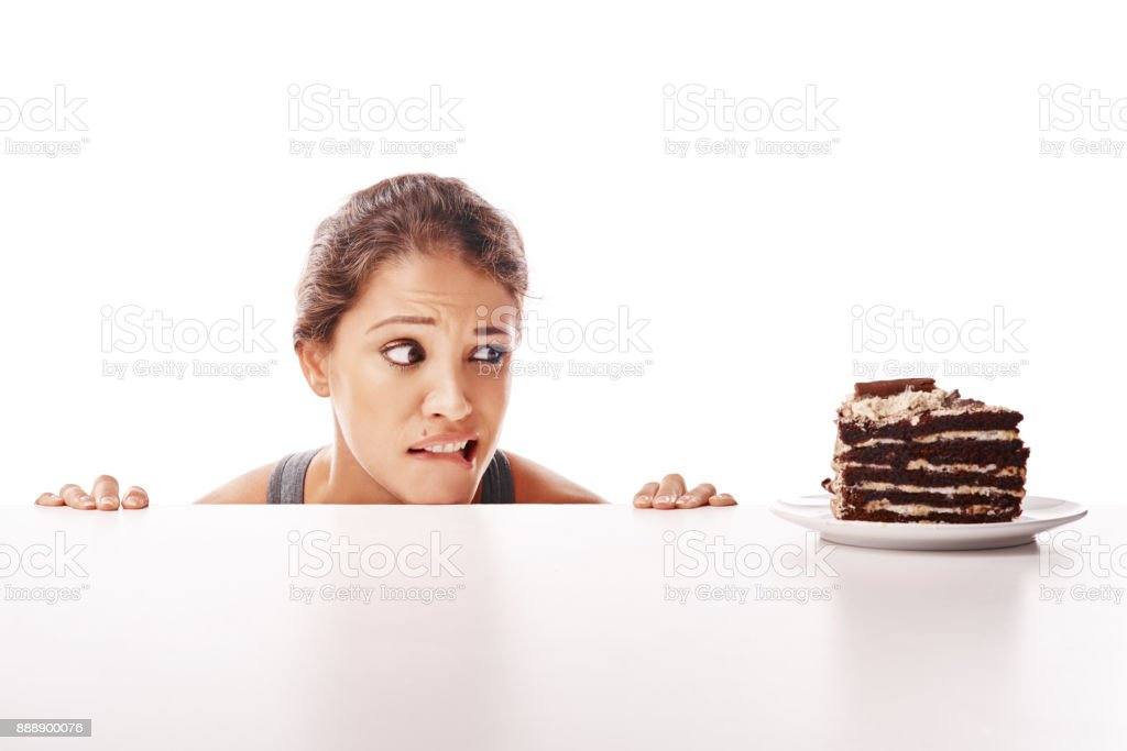 Life's too short to say no to cake stock photo