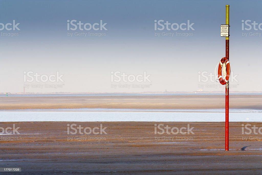 Lifesaver at the Langeoog beach stock photo