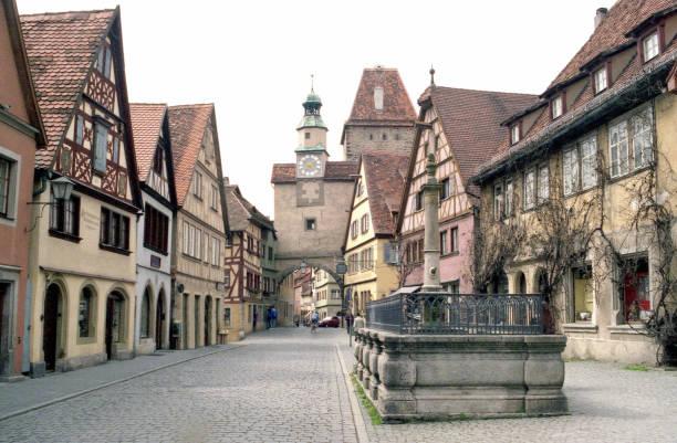 Lifestyle... Ein Dorfplatz, Bayern, Deutschland – Foto