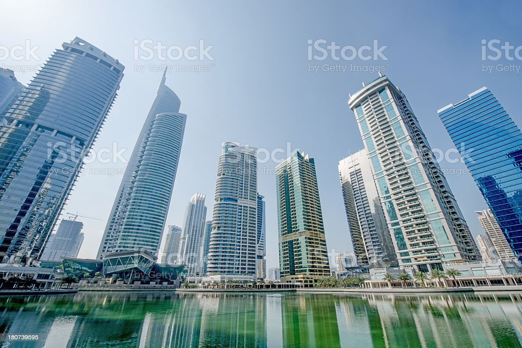 Lifestyle apartments and office development stock photo