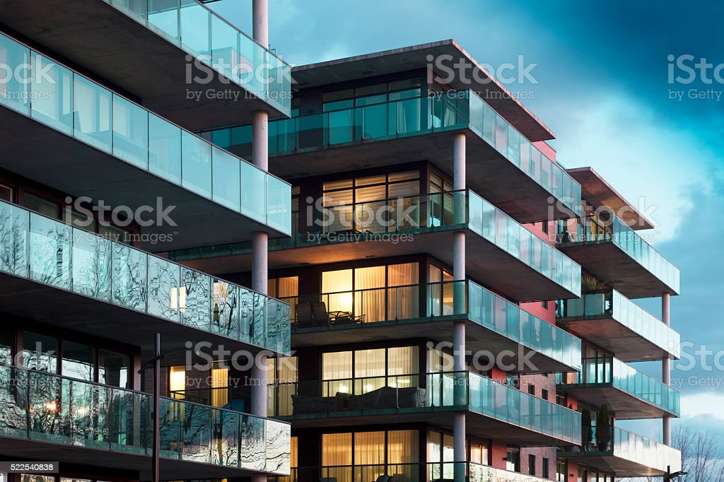 Apartamentos estilo vida - foto de stock