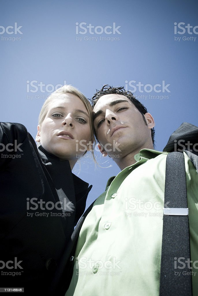 Lifestyle Couple Looking Down royalty-free stock photo