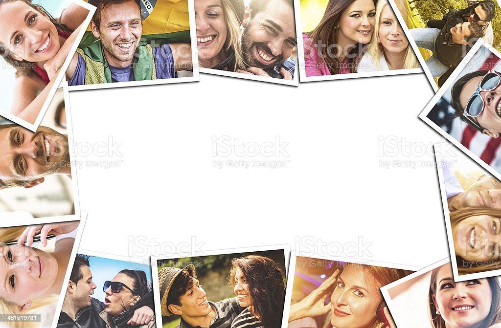 lifestyle montage stock photo