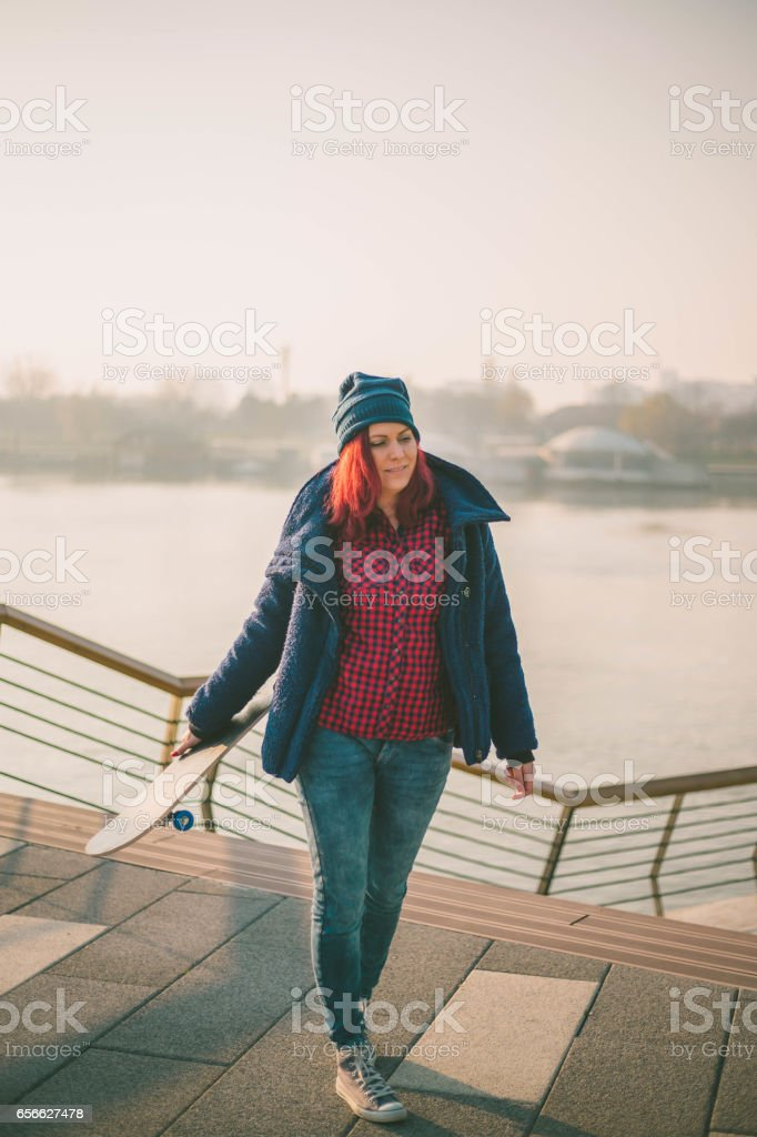Lifestyle Portrait Of A Young Attractive Woman With A