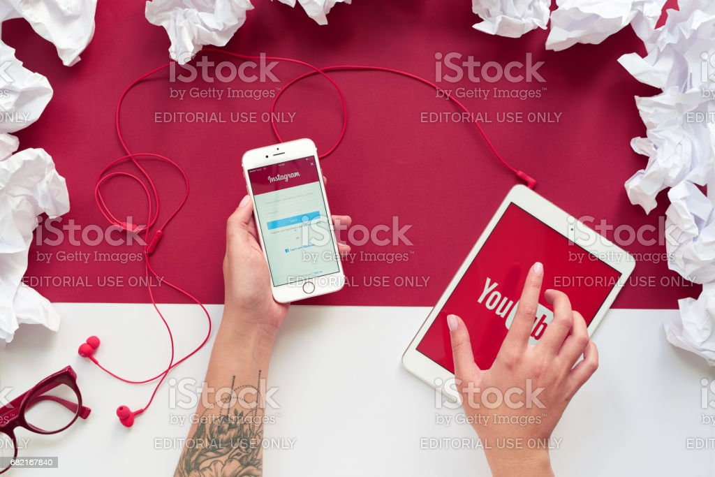 Lifestyle with technology stock photo