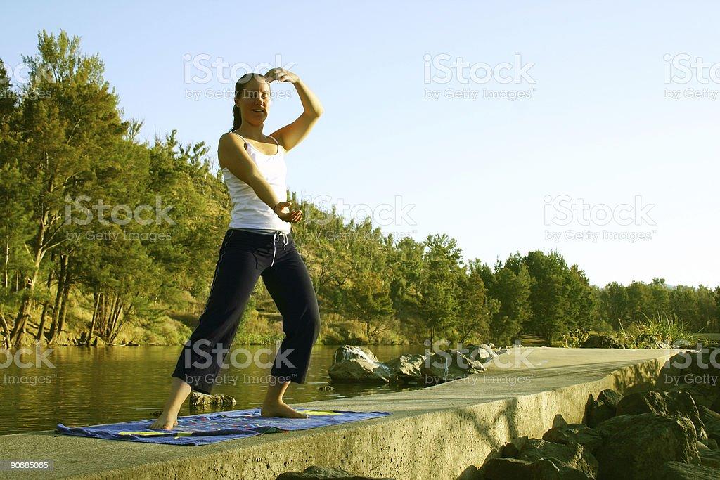 Lifestyle - Yoga royalty-free stock photo