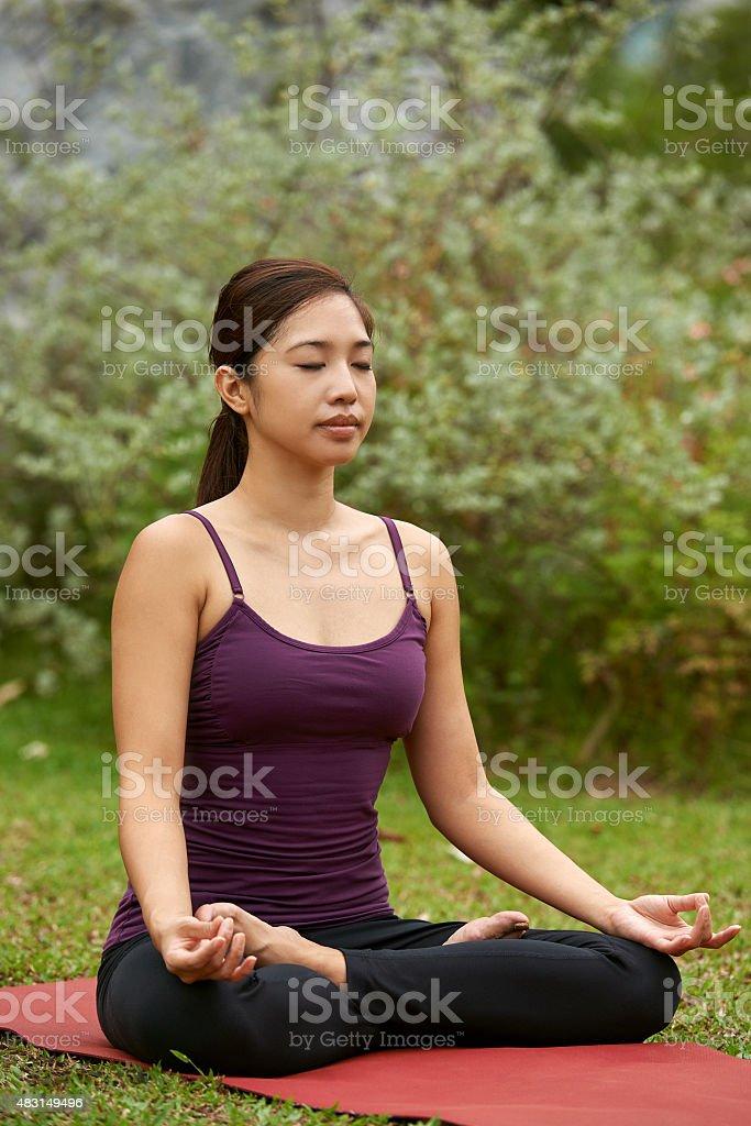 lifestyle yogi meditating stock photo