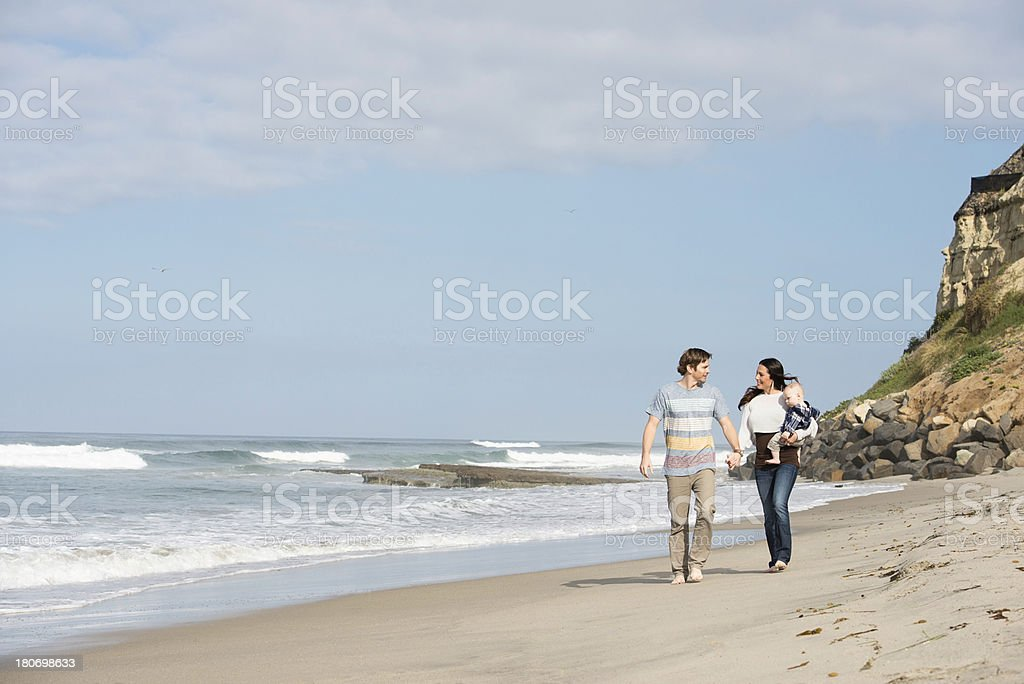 Lifestyles: Family Fun at the Beach royalty-free stock photo