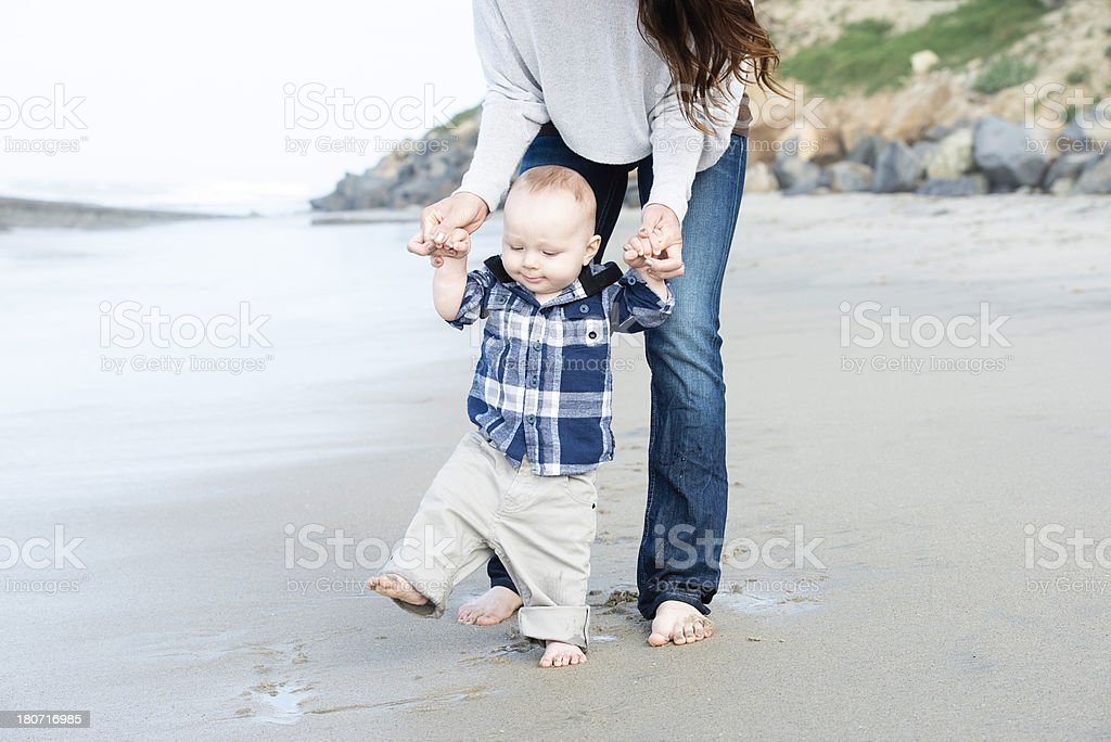 Lifestyles: Family Fun at the Beach stock photo