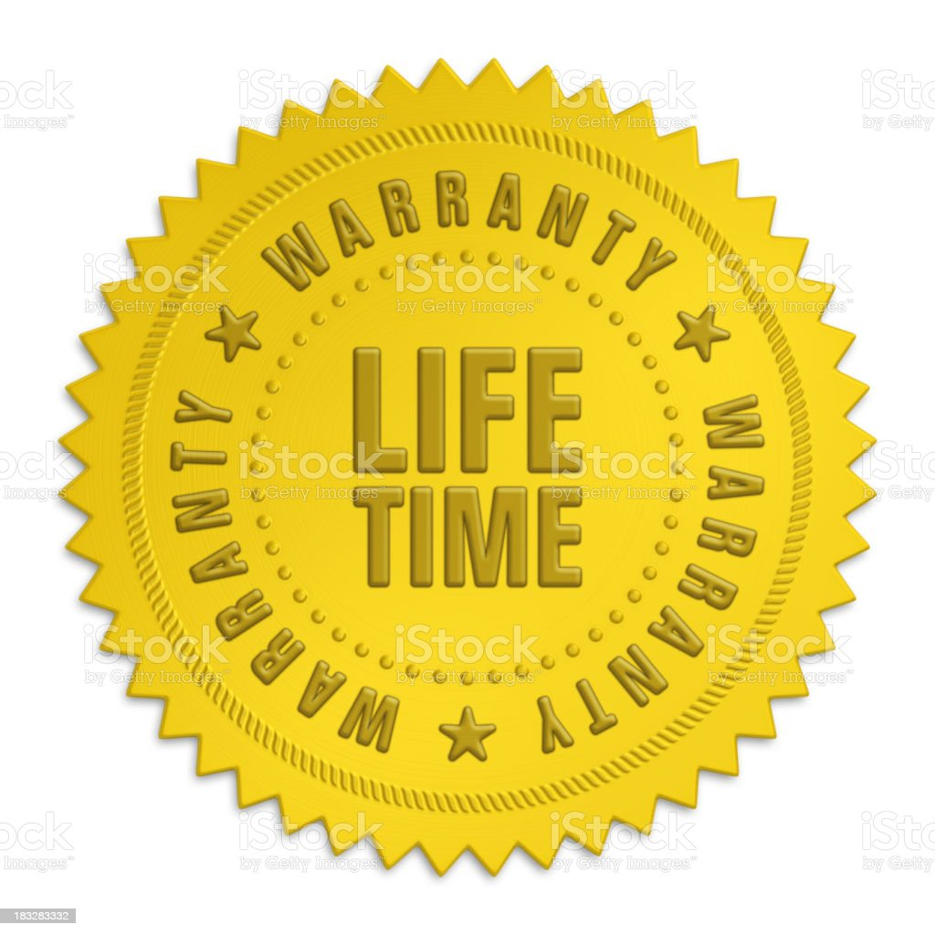 lifetime warranty label royalty-free stock photo