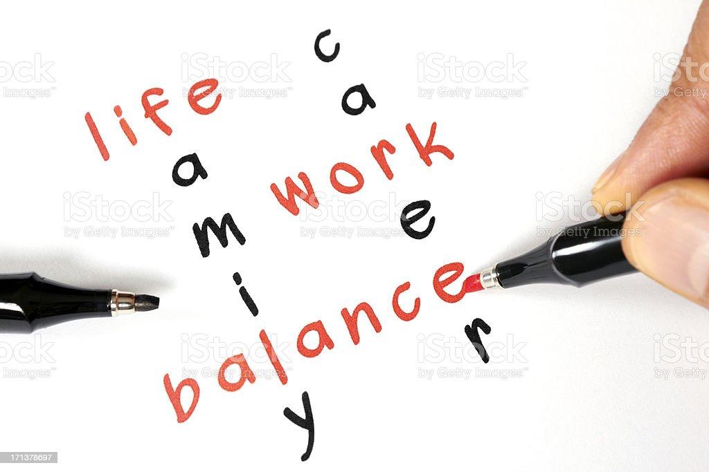 Life-Work Balance royalty-free stock photo