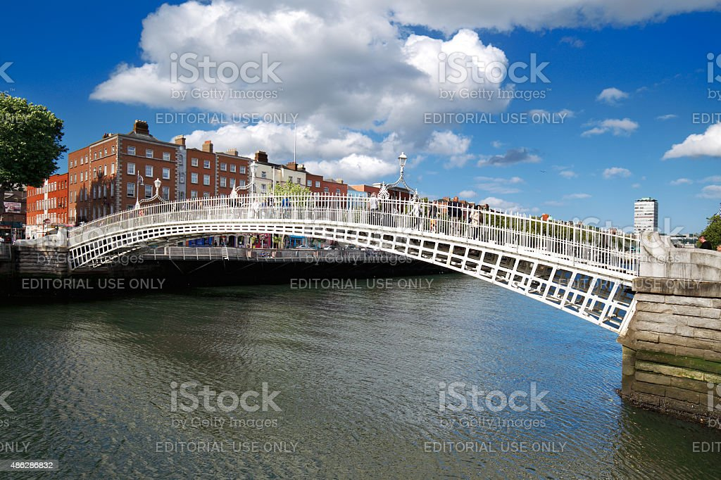 Liffey Bridge over the river Liffey in Dublin City Centre stock photo