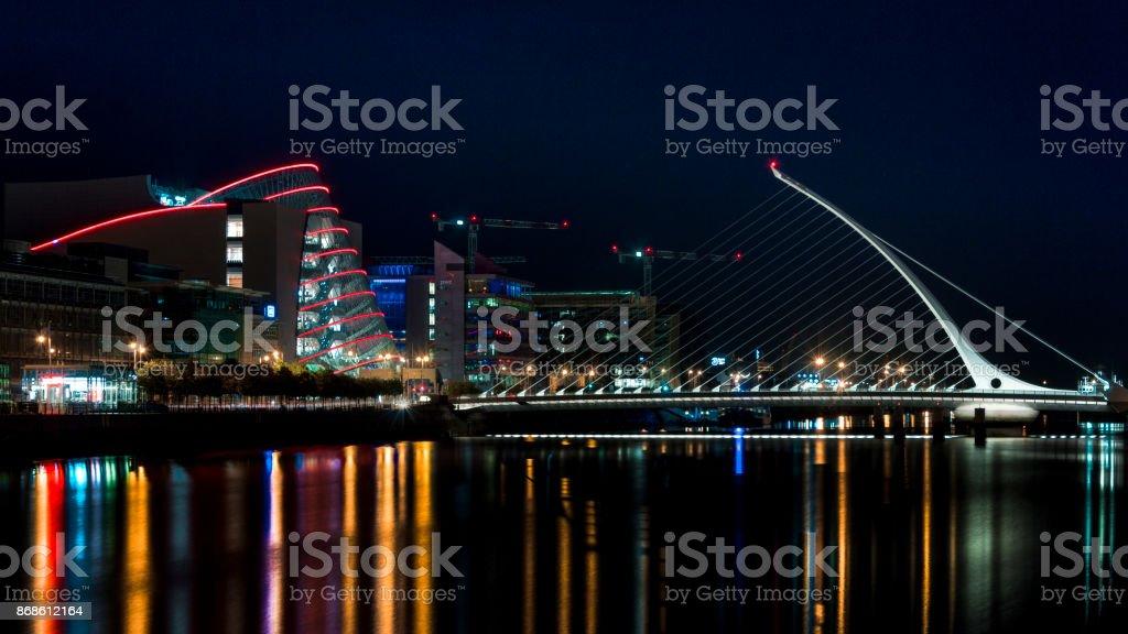 Liffey Night Landscape stock photo