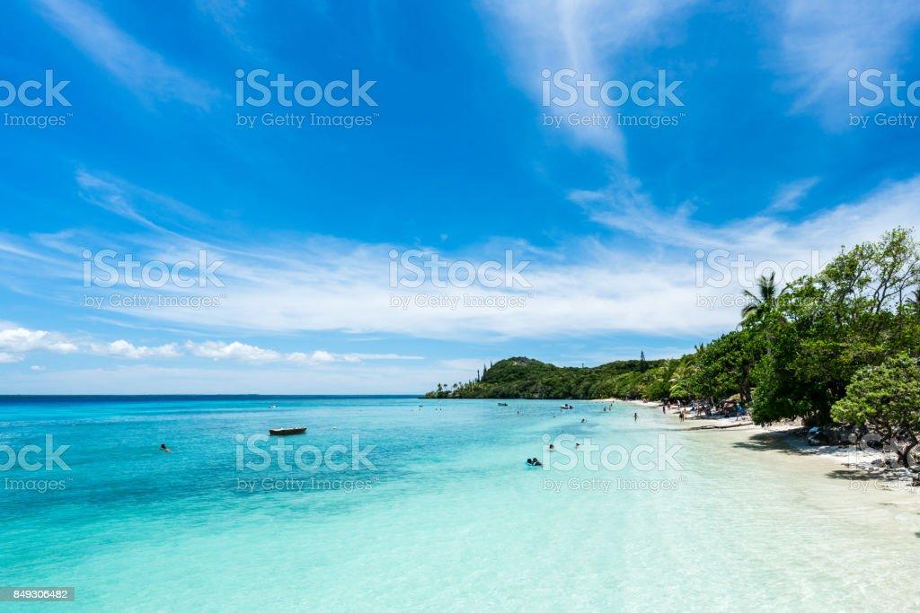 Lifou Beach stock photo