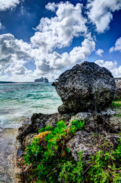 Lifou, New Caledonia - Cruising stock photo