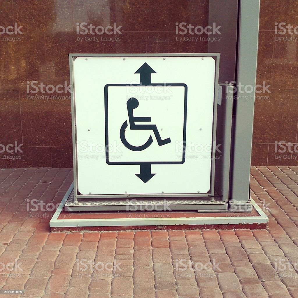 Lift for disabled. stock photo