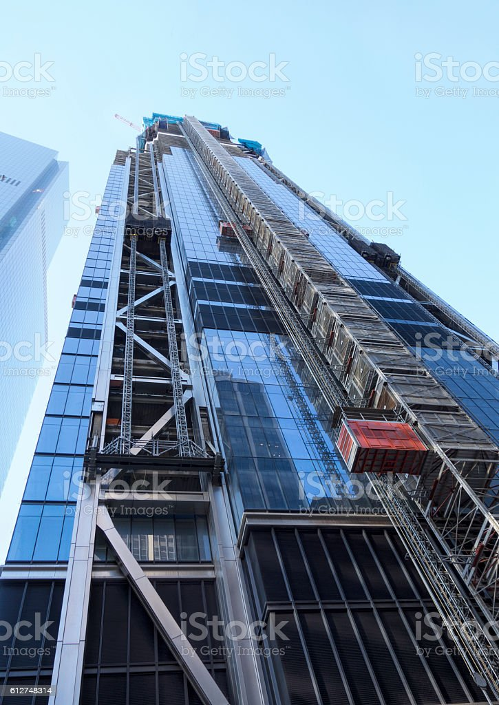 lift on construction stock photo