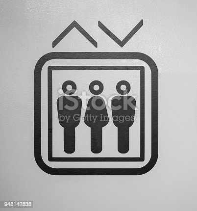 istock Lift or elevator symbol on grey background 948142838