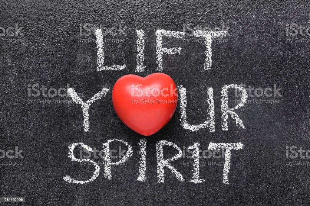 lift you spirit heart royalty-free stock photo