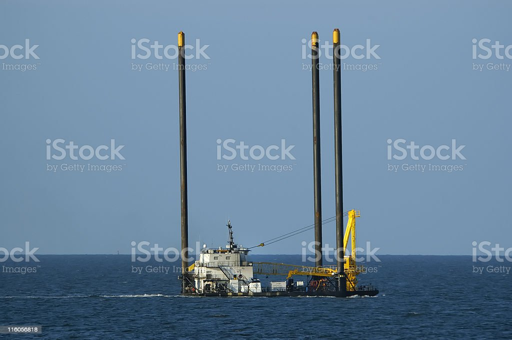 Liftboat  platform underway royalty-free stock photo
