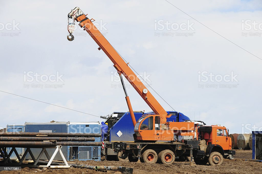 Lifting crane royalty-free stock photo