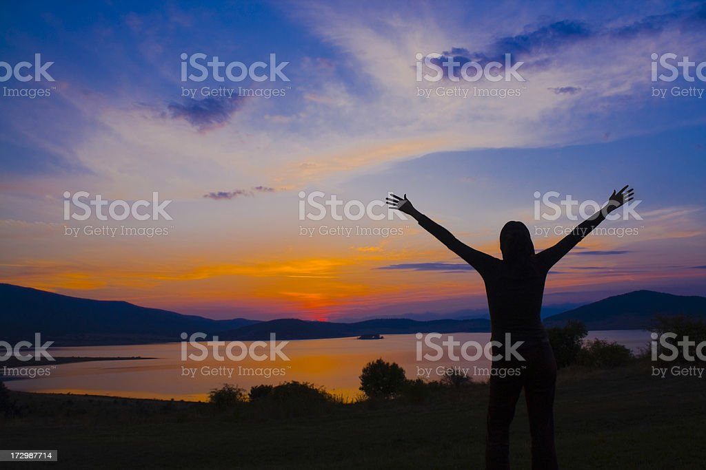 Lifting Hands royalty-free stock photo