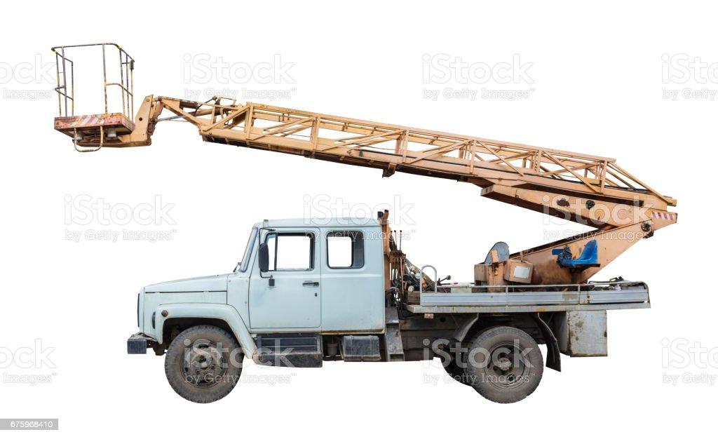 Lifting machine stock photo