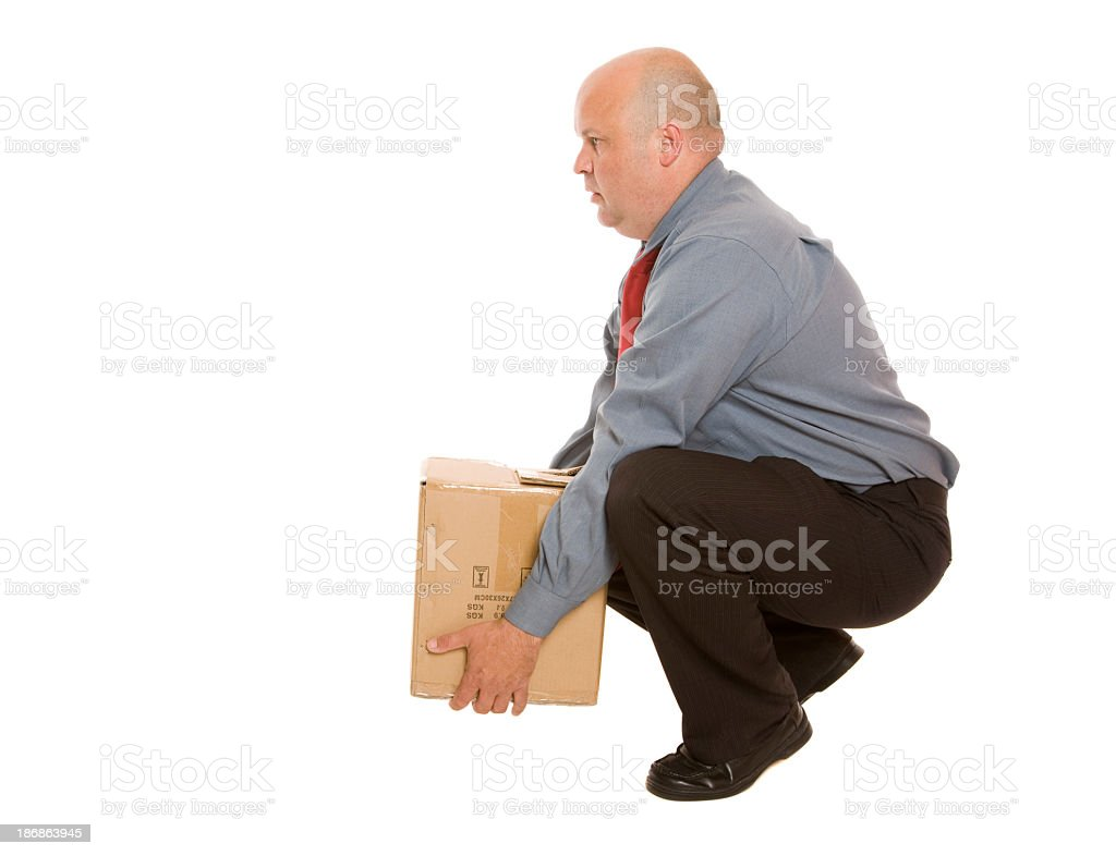 Lifting Safety royalty-free stock photo