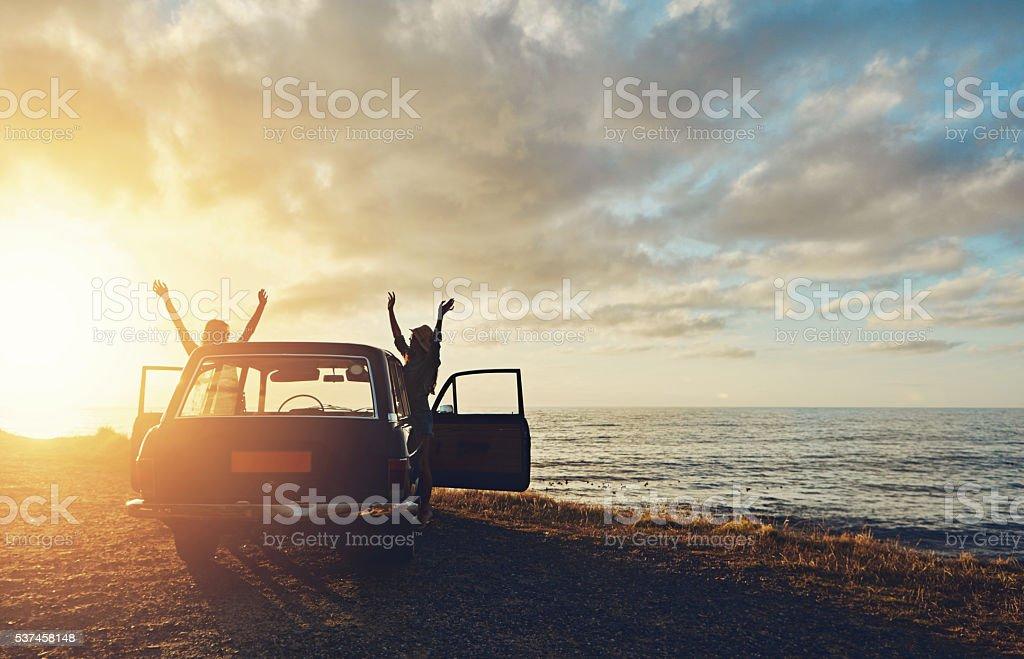 Sollevando il sole - foto stock