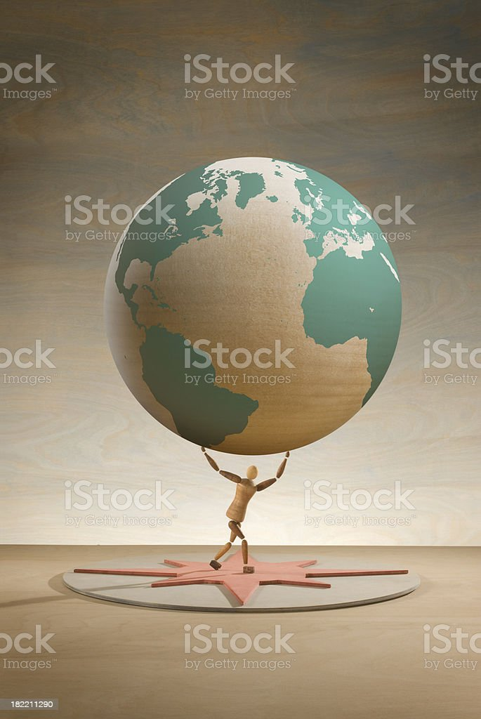 Lifting the world royalty-free stock photo