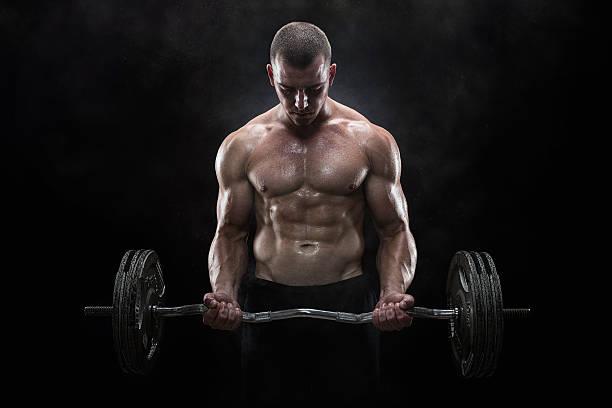 levantamiento de pesas - macho fotografías e imágenes de stock