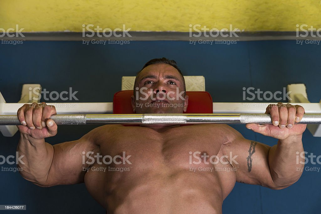 Lifting Weights royalty-free stock photo