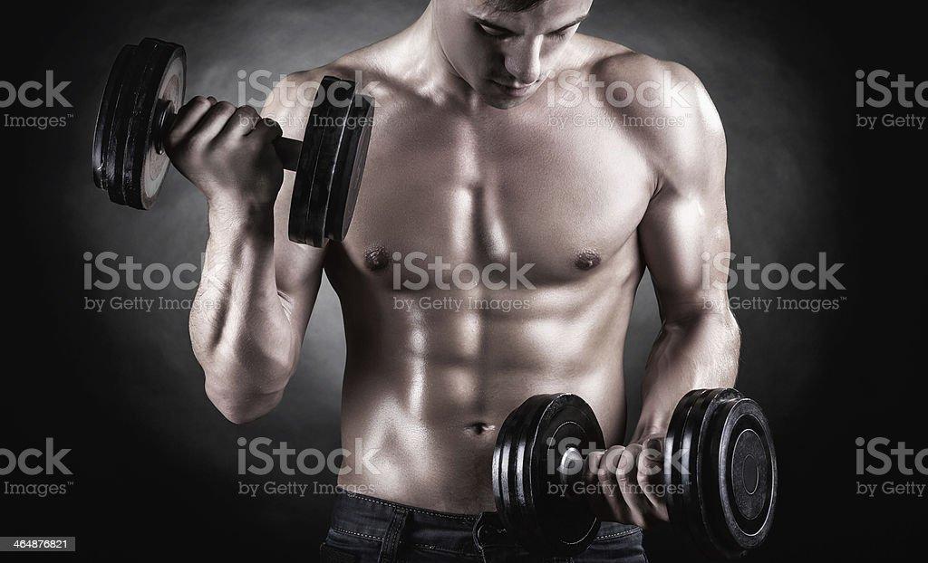 Levantamiento de pesas - Foto de stock de Abdomen libre de derechos