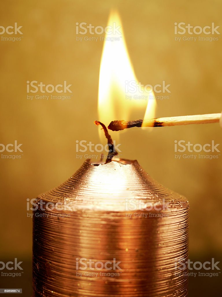 Light a Candle royalty-free stock photo