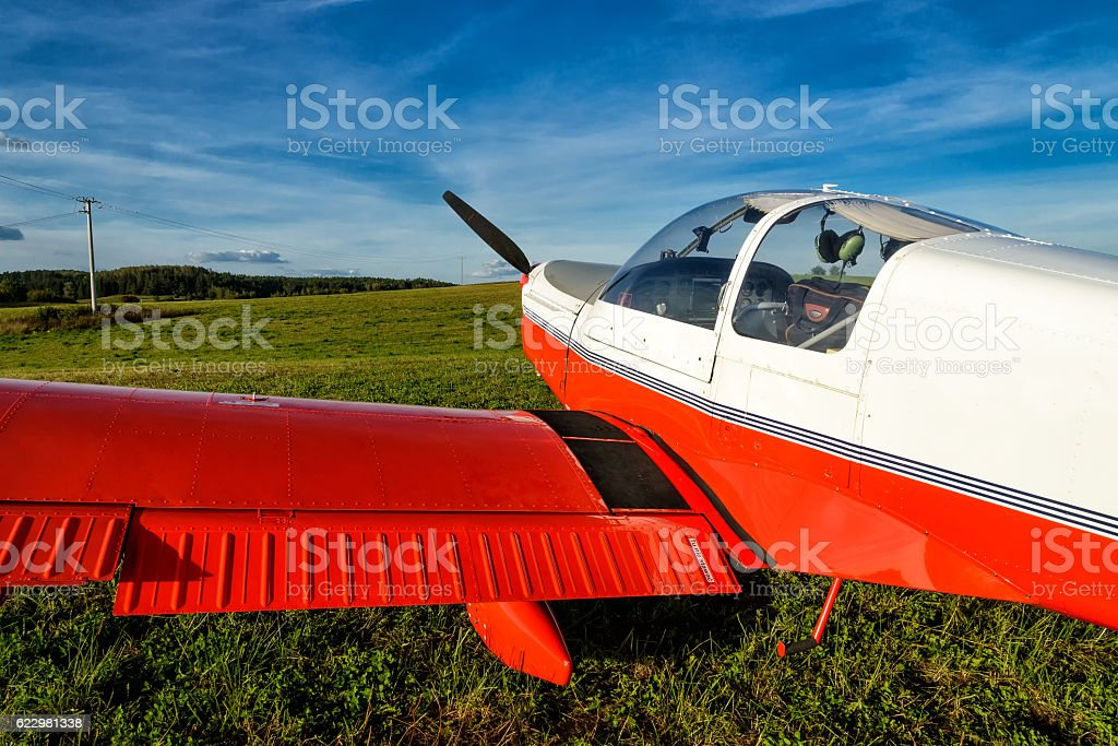 light aircraft stock photo